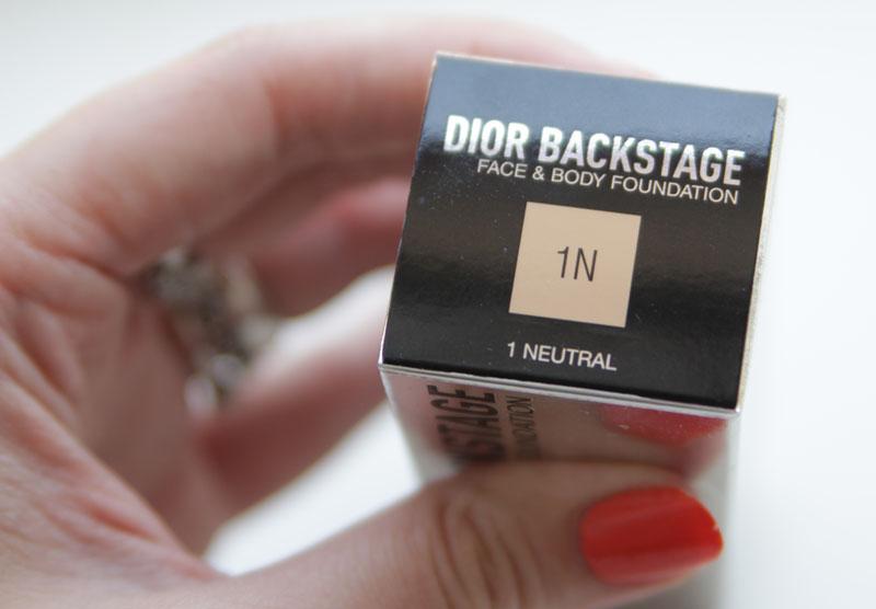 Dior Backstage Face & Body Foundation 1N